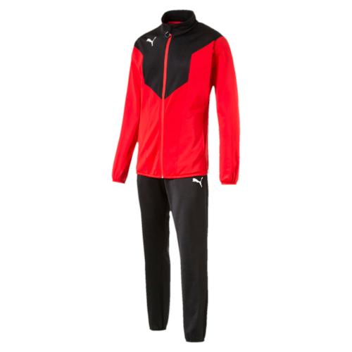 Спортивный костюм65520214Куртка декорирована логотипом PUMA, нанесенным методом термопечати на правую сторону груди. На рукавах имеются контрастные вставки. Куртка снабжена боковыми карманами, а подол и манжеты отделаны эластичным материалом. Брюки декорированы логотипом PUMA, нанесенным методом термопечати на левую штанину. Они полностью снабжены поясом из эластичного материала и боковыми карманами, а низ штанин отделан эластичным материалом. Курта и брюки имеют стандартную посадку и изготовлены с использованием высокофункциональной технологии dryCELL, которая отводит влагу, поддерживает тело сухим и гарантирует комфорт.