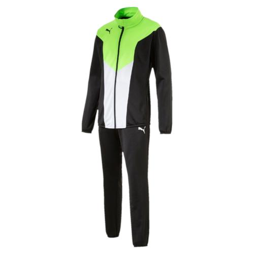 Спортивный костюм65520250Куртка декорирована логотипом PUMA, нанесенным методом термопечати на правую сторону груди. На рукавах имеются контрастные вставки. Куртка снабжена боковыми карманами, а подол и манжеты отделаны эластичным материалом. Брюки декорированы логотипом PUMA, нанесенным методом термопечати на левую штанину. Они полностью снабжены поясом из эластичного материала и боковыми карманами, а низ штанин отделан эластичным материалом. Курта и брюки имеют стандартную посадку и изготовлены с использованием высокофункциональной технологии dryCELL, которая отводит влагу, поддерживает тело сухим и гарантирует комфорт.