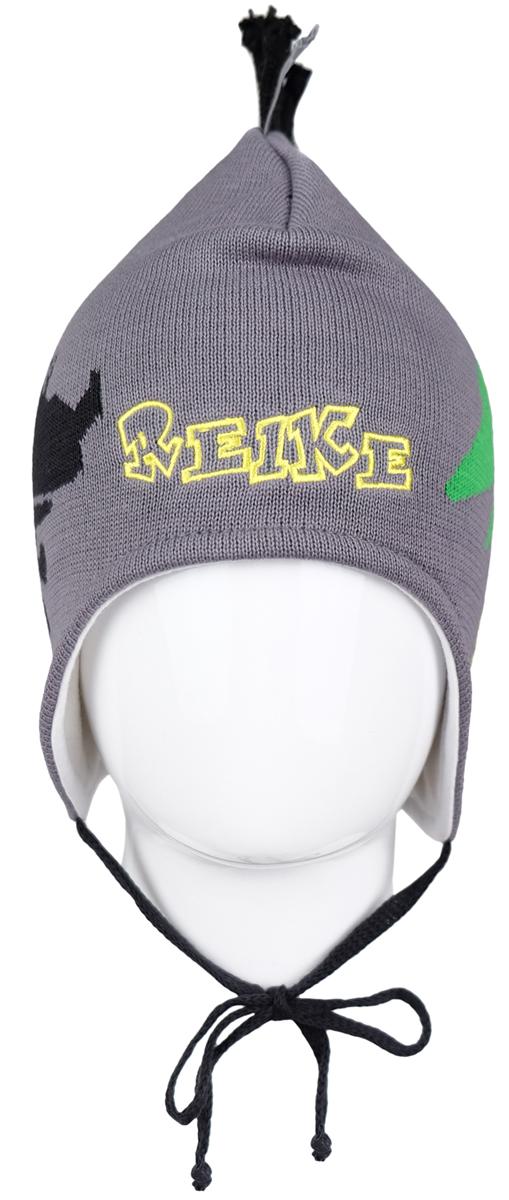 Шапка детскаяRKNSS17-DIN1-YN_navyЯркая двухслойная шапка для мальчика Reike Динозаврики, изготовленная из натурального хлопка мелкой вязки, защитит голову ребенка от ветра в прохладную погоду. Модель с удлиненными ушками оформлена принтом, вышитым логотипом Reike и ирокезом из шнурков. Изделие фиксируется на голове при помощи завязок. Уважаемые клиенты! Размер, доступный для заказа, является обхватом головы.