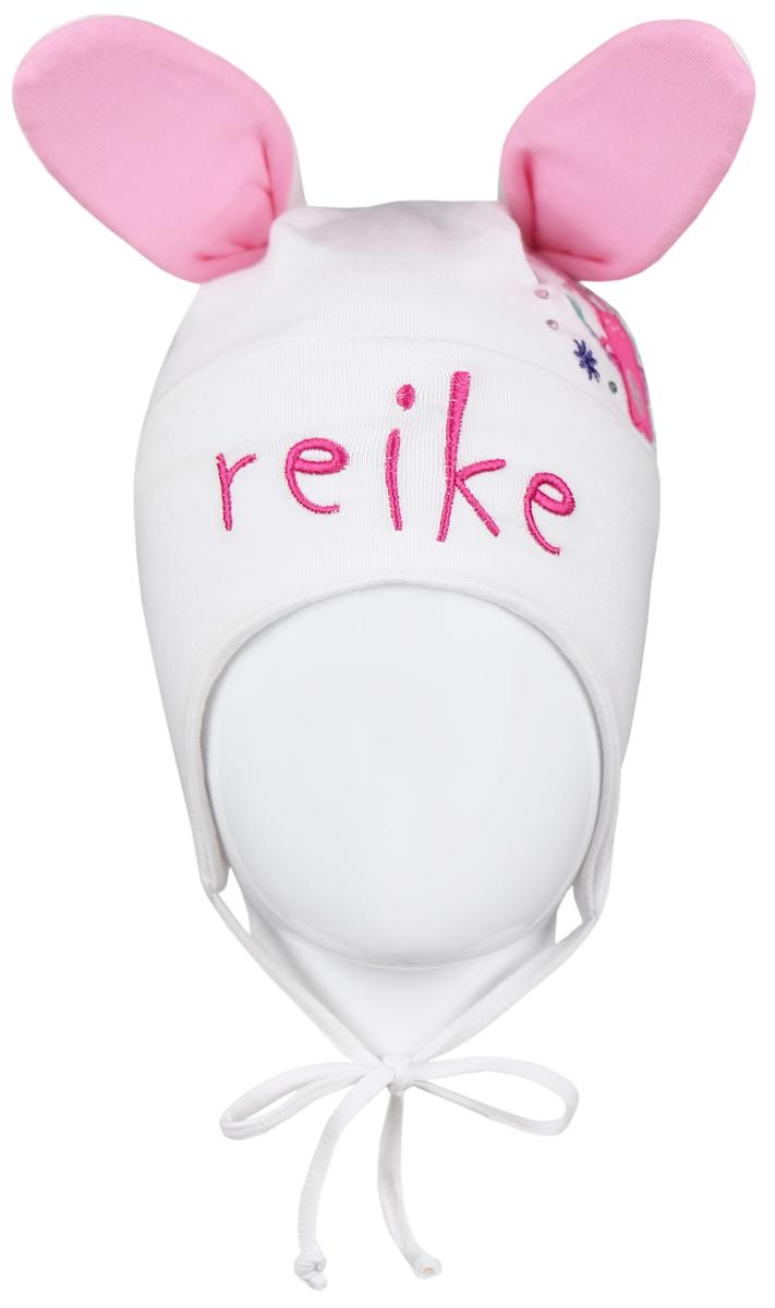 Шапка детскаяRKNSS17-HR1 whiteЯркая двухслойная шапка для девочки Reike Зайчики, изготовленная из натурального хлопка, защитит голову ребенка от ветра в прохладную погоду. Ушки и вышитый принт со стразами в стиле серии делают модель оригинальной и очаровательной. Изделие с удлиненными боковыми частями фиксируется на голове при помощи завязок. Уважаемые клиенты! Размер, доступный для заказа, является обхватом головы.