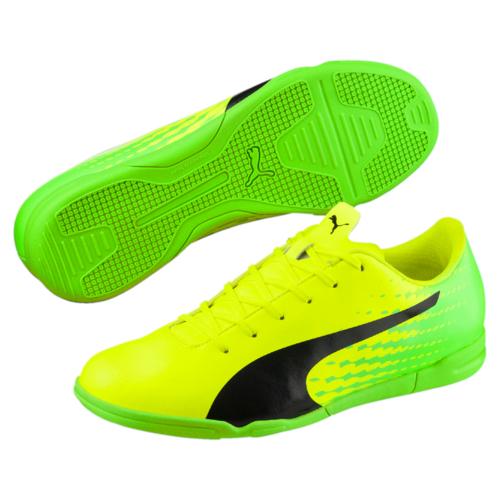 Кроссовки10402701Новые бутсы evoSPEED 17.5 - это качественная модель по доступной цене в линейке футбольной обуви EvoSPEED от PUMA, в которой прочность и комфорт сочетаются со свежим дизайном. Мягкая и прочная искусственная кожа верха вместе с удобной колодкой и прямой шнуровкой по центру обеспечивают идеальную посадку по ноге и отличное чувство мяча, а также долговечность, износостойкость и универсальность.