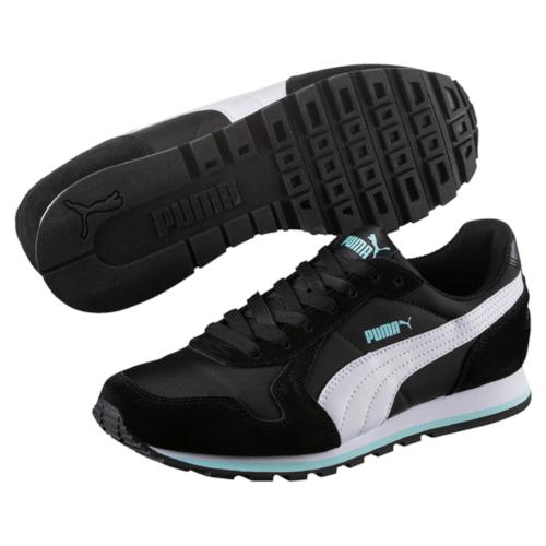 Кроссовки35673838Разработанные в лучших традициях PUMA, кроссовки серии ST Runner - идеальный вариант для прогулок и активного отдыха. Верхняя часть обуви из высококачественного нейлона с мягкими замшевыми вставками и накладками обеспечивает комфорт и прекрасную посадку по ноге. Модель ST Runner NL - это неповторимый дизайн, новое прочтение классической традиции и прекрасное дополнение к стильному повседневному гардеробу.