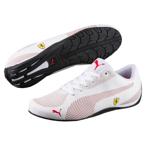 Кроссовки30592103Модель SF Drift Cat 5 Ultra - стильная новинка серии Drift Cat, давно полюбившейся энтузиастам автоспорта. Благодаря ей эта линейка спортивной обуви пополнилась оригинальной моделью низких кроссовок с чистыми, простыми линиями. Верх из мягкой искусственной кожи сконструирован таким образом, чтобы фирменная полоса с наружной стороны с мелкой перфорацией и рельефные элементы с обеих сторон создавали интересный контраст. Традиционная символика Ferrari, включая полноцветный логотип Ferrari, отделку задника тесьмой цветов итальянского флага и соответствующую фирменную цветовую гамму, делает эту модель непременным атрибутом гардероба поклонников классического стиля, оживленного современными оригинальными деталями.