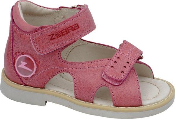 Сандалии11541-9Сандалии от Зебра выполнены из натуральной кожи. Внутренняя поверхность и стелька из натуральной кожи комфортны при ходьбе. Стелька дополнена супинатором, который обеспечивает правильное положение ноги ребенка при ходьбе и предотвращает плоскостопие. Ремешок с застежкой-липучкой позволяет прочно зафиксировать ножку ребенка. Ортопедический каблук Томаса укрепляет подошву под средней частью стопы и препятствует ее заваливанию внутрь.