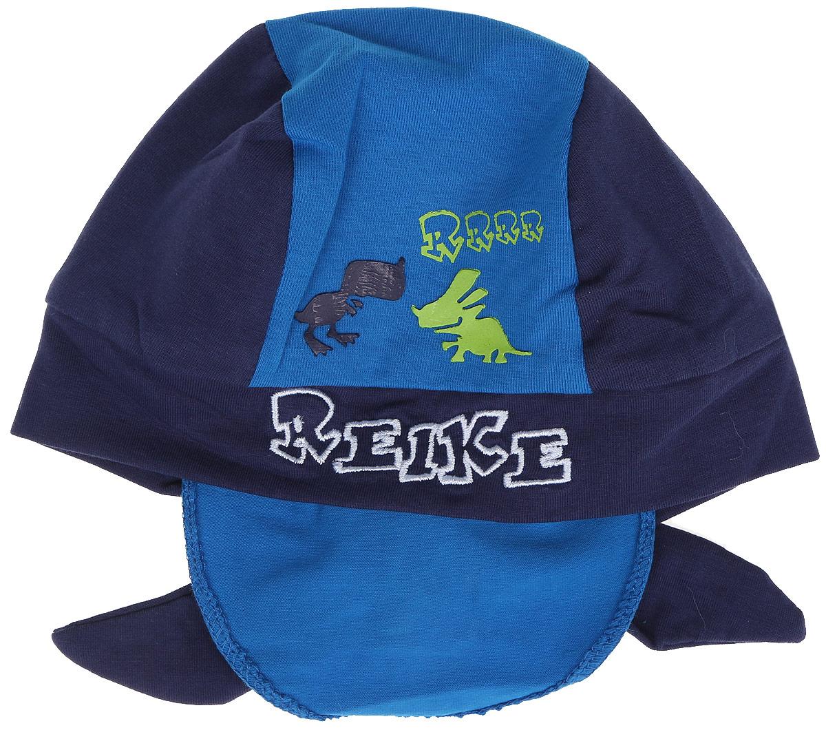 БанданаRKNSS17-DIN8_green/blueБандана для мальчика Reike Динозаврики, изготовленная из натурального хлопка, станет стильным аксессуаром во время прогулок и игр на свежем воздухе, защищая голову малыша от солнца и ветра. Бандана оформлена принтом в стиле серии и вышитой надписью с названием бренда и фиксируется на голове широкими завязками. Уважаемые клиенты! Размер, доступный для заказа, является обхватом головы.