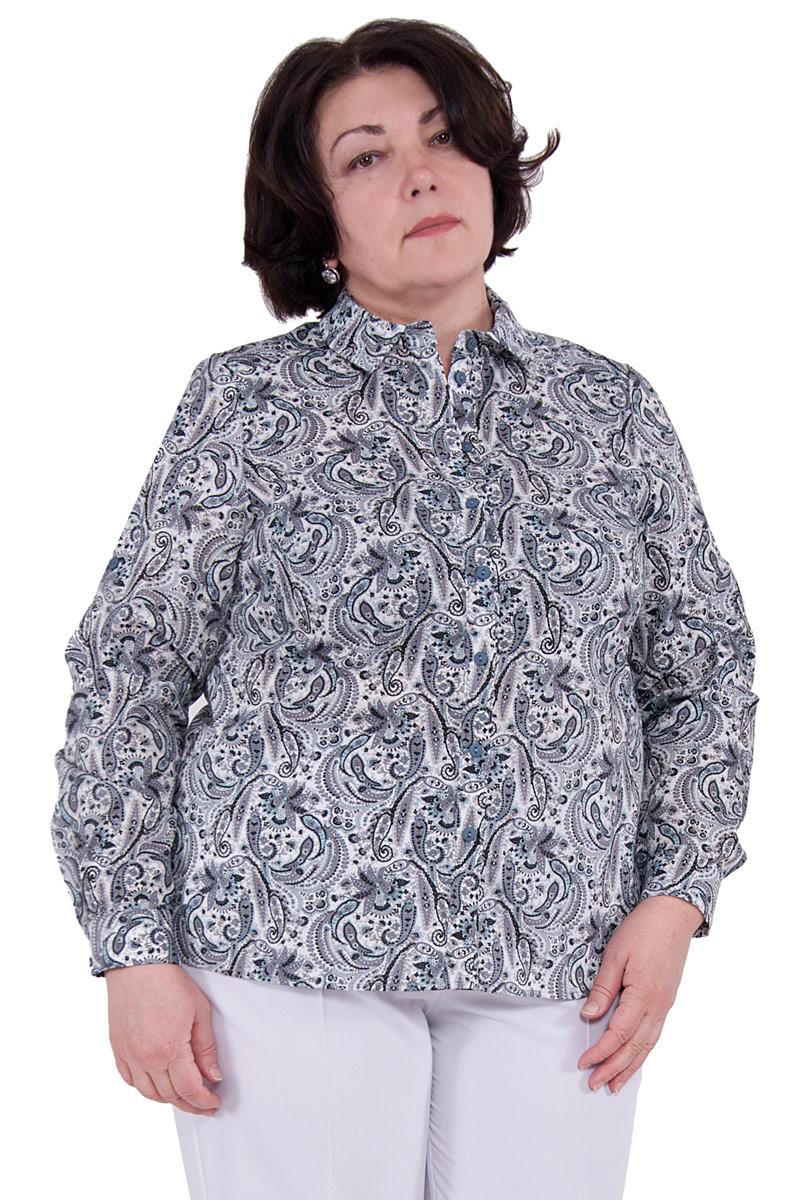 БлузкаП18-203Классический фасон рубашки подчеркнет достоинства фигуры засчет нагрудных вытачек, создавая тем самым идеальный силуэт, а разрезы в боковых швах и паты на рукавах позволят создать более расслабленный и непринужденный образ