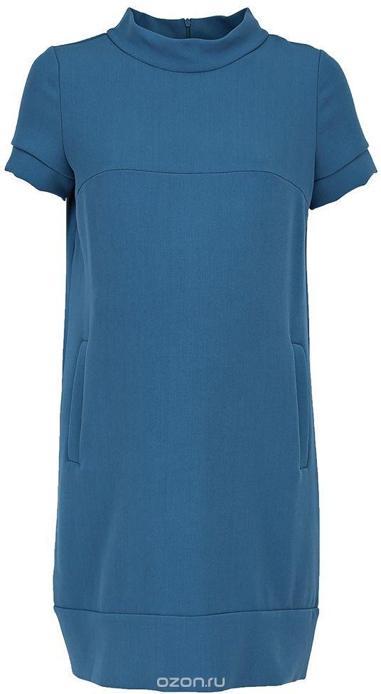 Платье5301512173Платье для беременных Mammy Size выполнено из комбинированного материала. Модель с воротником-стойкой и короткими рукавами застегивается на молнию.