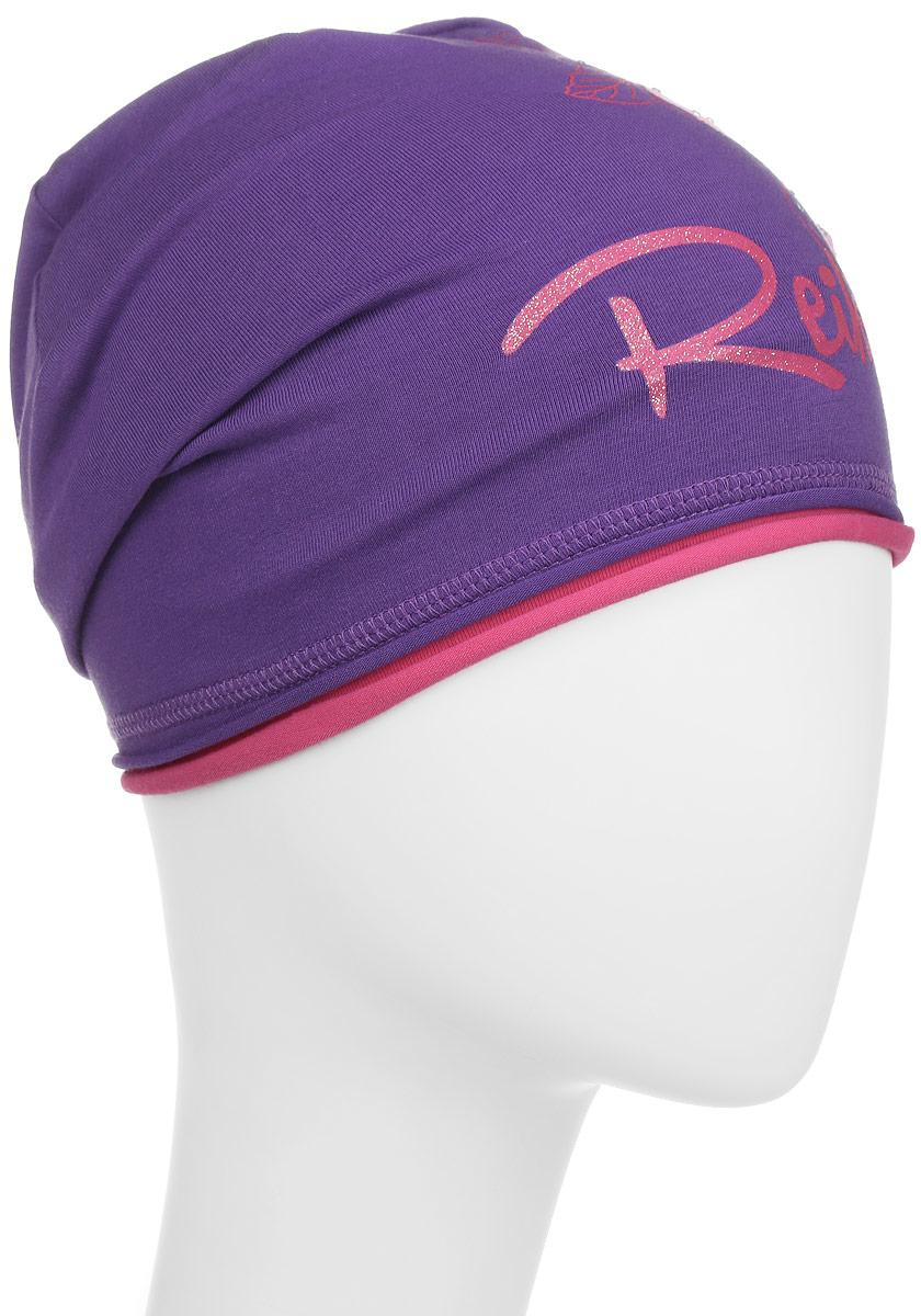 Шапка детскаяRKNSS17-MAL1_pinkСтильная шапка для девочки Reike Мальва, изготовленная из качественного хлопкового материала, отлично впишется в гардероб юной модницы. Модель с контрастным подкладом оформлена цветочным принтом со стразами и блестками в стиле серии. Уважаемые клиенты! Размер, доступный для заказа, является обхватом головы.