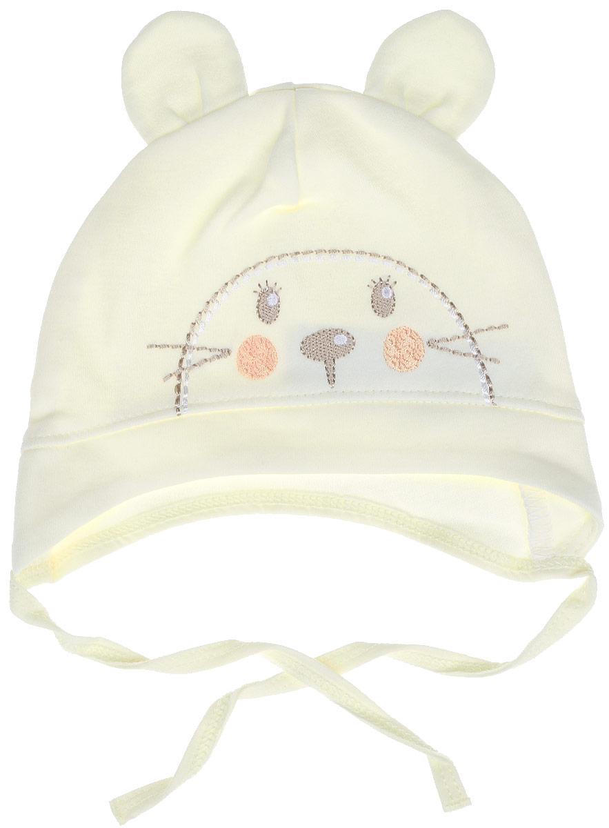 Шапка детскаяШП49И05Детская шапочка БЕМБІ изготовлена из натурального хлопка. Тонкая шапочка дополнена удобными завязками. Спереди имеется декоративная вышивка в виде симпатичной мордочки, верх оформлен двумя текстильными ушками. Уважаемые клиенты! Размер, доступный для заказа, является обхватом головы.