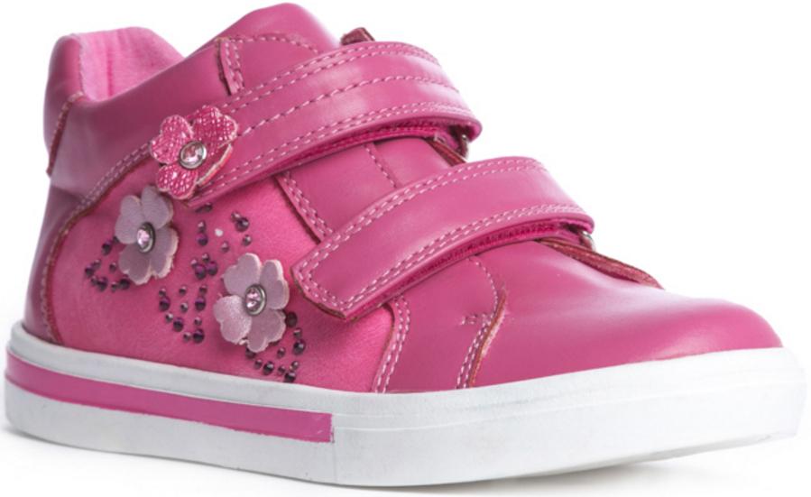 Ботинки172220Стильные комфортные ботинки прекрасно подходят для ежедневных прогулок. Выполнены из современных материалов. Гибкая подошва с рифлением обеспечивает максимальный комфорт. Застежки - липучки отлично фиксируют обувь на ноге. Удобная пятка укреплена жестким задником. Ботинки украшены стразами.