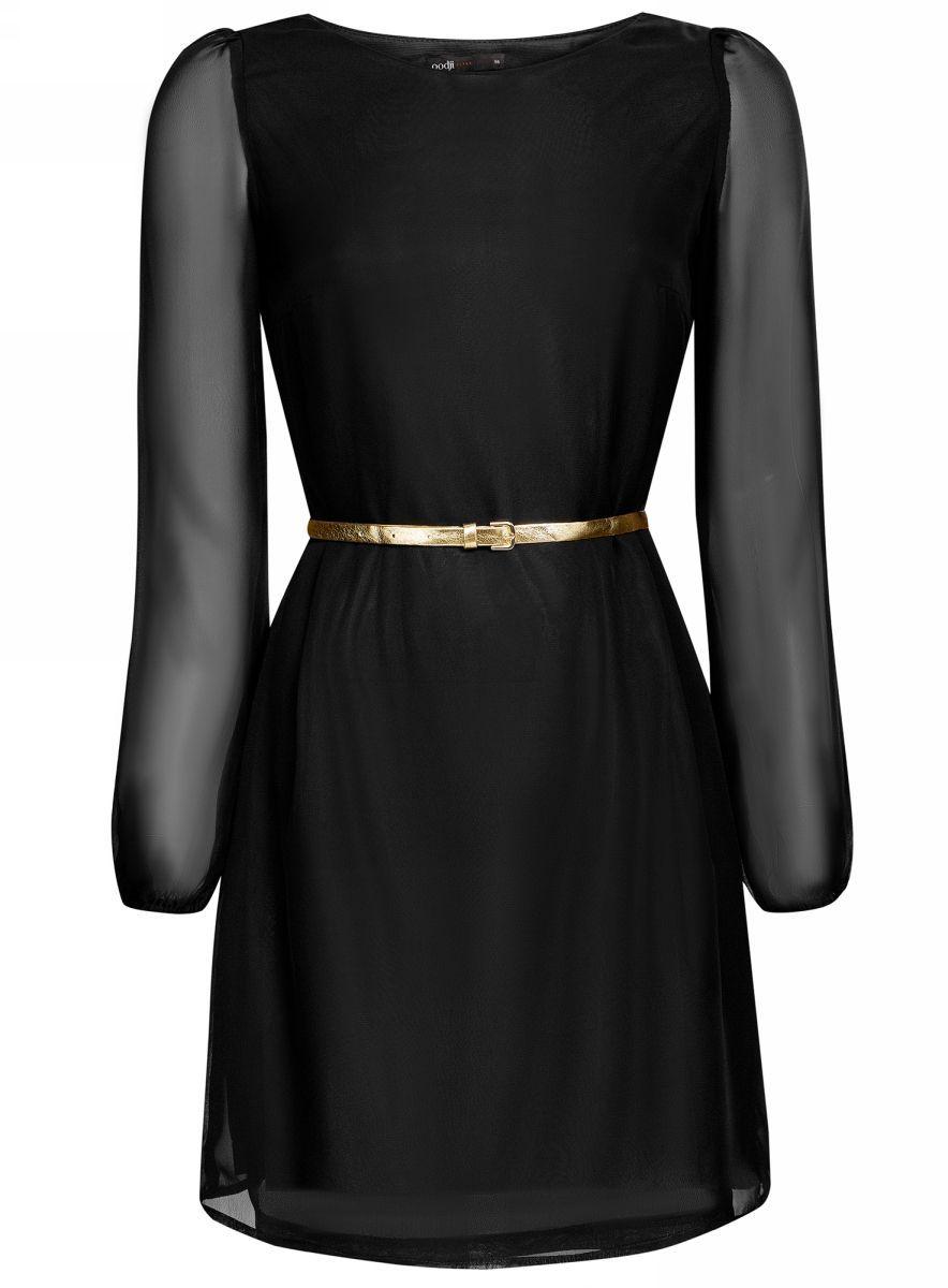Платье11900150-5/13632/2900NПлатье из шифона с ремнем