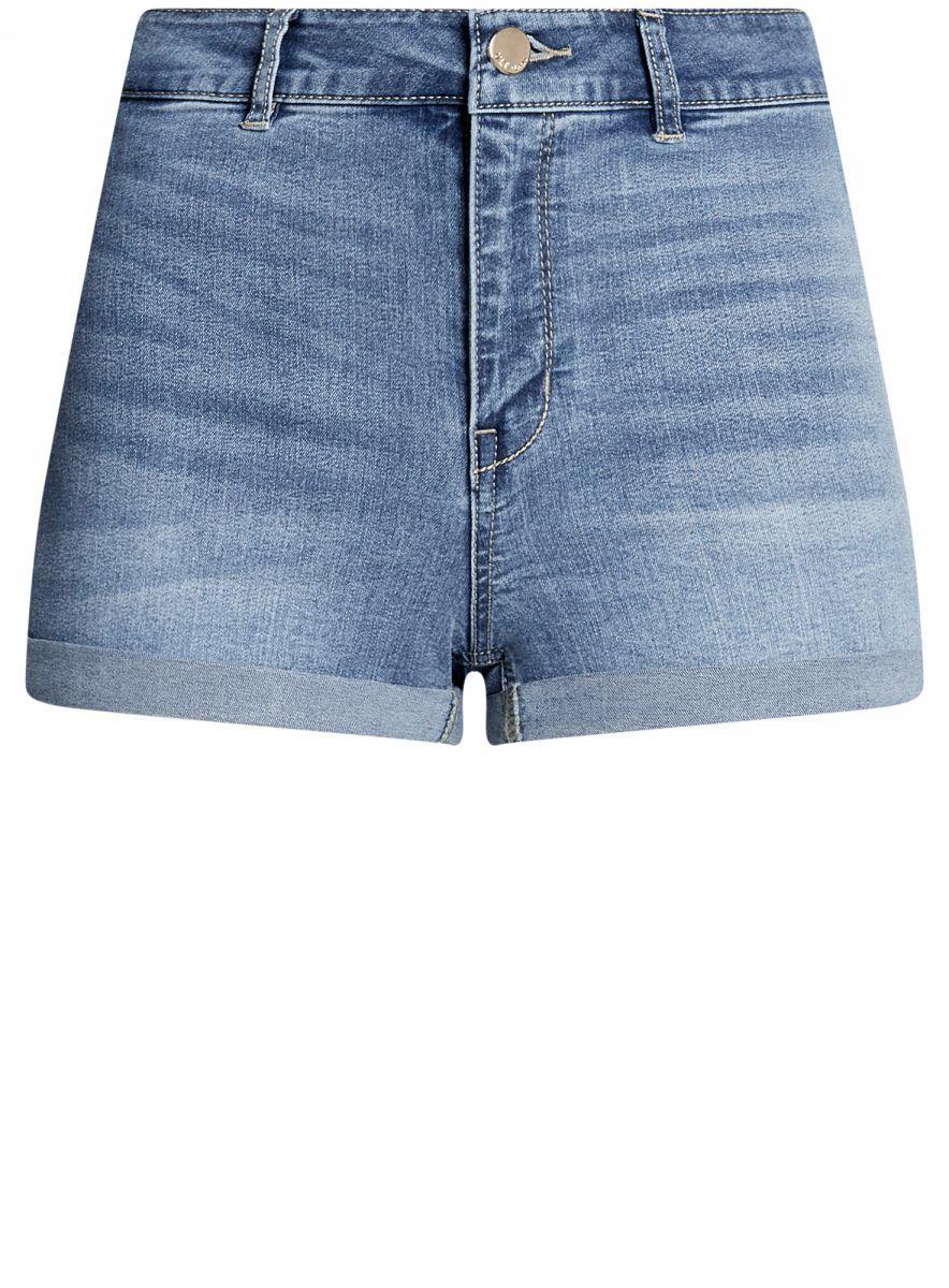 Шорты12807076-1B/45877/7000WШорты джинсовые базовые с высокой посадкой