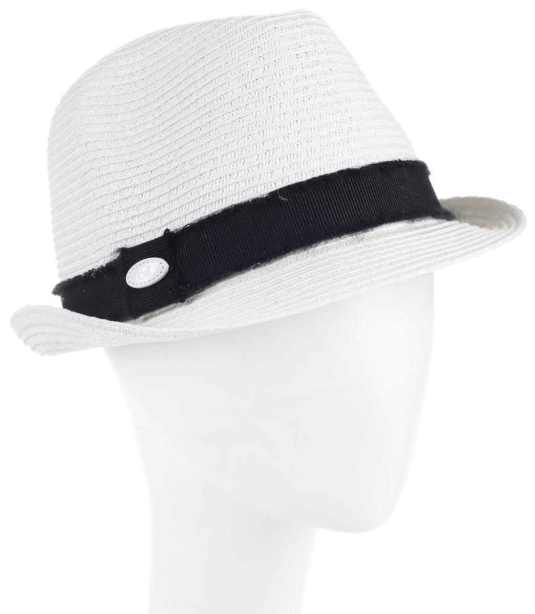 Шляпа994555Женская шляпа Avanta изготовлена из бумажной нити с добавлением полиэстера. Модель оформлена кантом контрастного цвета и овальным декоративным элементом. Прекрасный головной убор для лета из натуральных материалов. Размер, доступный для заказа, является обхватом головы.