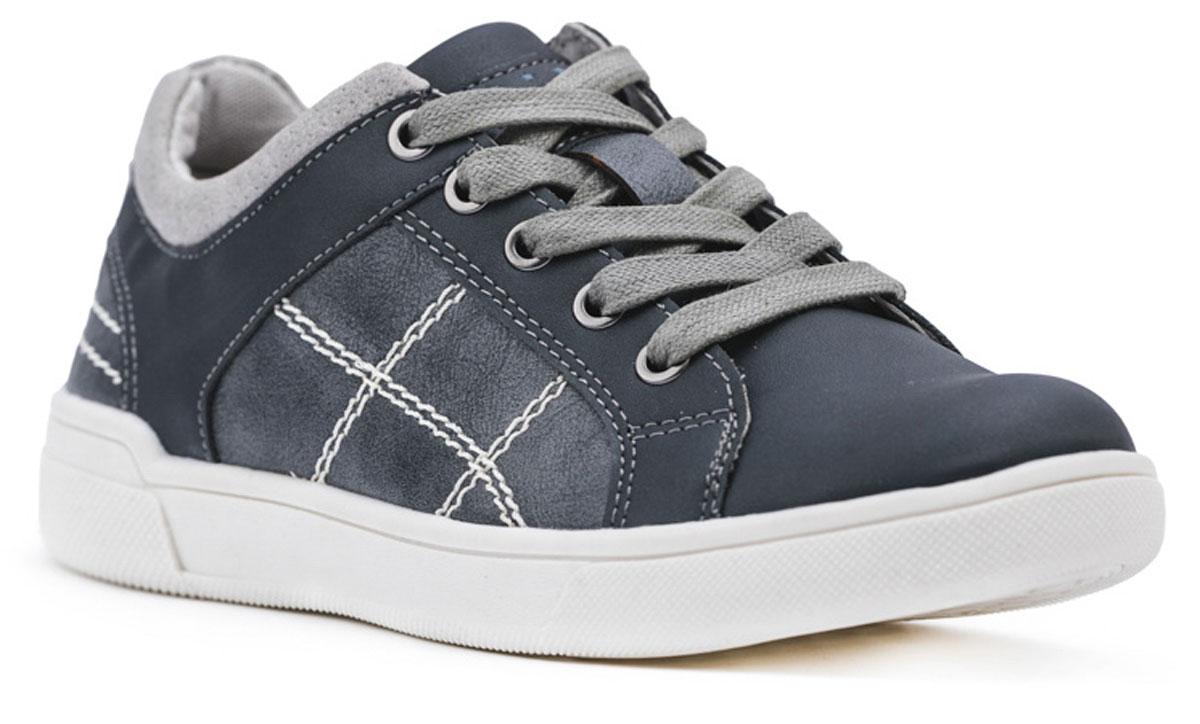 Полуботинки173212Стильные и комфортные полуботинки для мальчика превосходно подходят для ежедневных прогулок. Удобная пятка укреплена жестким задником и мягким кантом, а легкая подошва с рифлением обеспечивает оптимальный комфорт. Модель на шнурках, которые отлично фиксируют обувь на ноге.