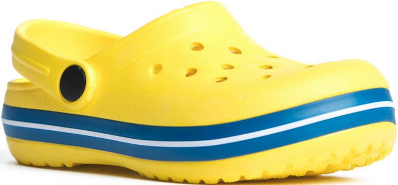 Сабо171241Эти удобные сабо прекрасно подойдут и для дачи, и для пляжа. Подвижный пяточный ремень позволяет легко снимать о одевать обувь. Перфорированная носочная часть обеспечивает хорошую вентиляцию.