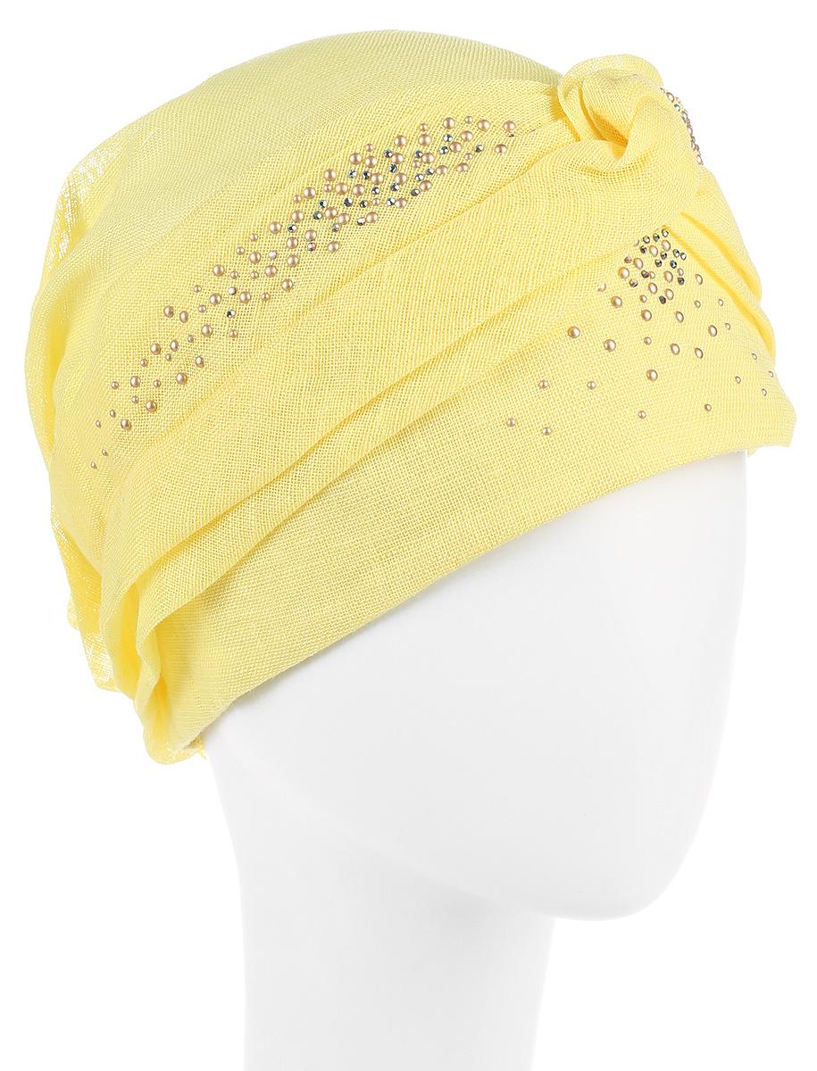 Бандана392413Бандана женская Level Pro изготовлена из качественного натурального льна. Ткань сзади собрана на внутреннюю резинку. Бандана декорирована металлическими стразами. Размер, доступный для заказа, является обхватом головы.