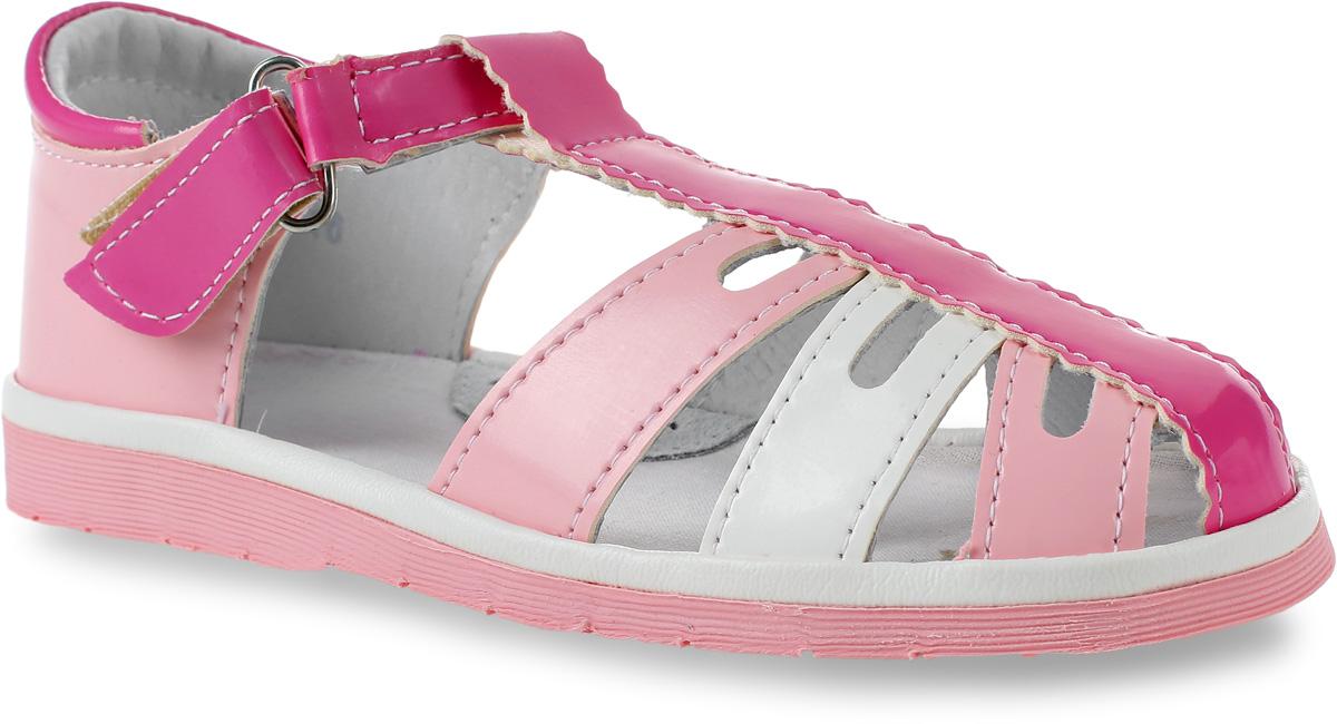 Сандалии3621Сандалии для девочки Римал выполнены из качественной искусственной кожи. Ремешок с липучкой обеспечит оптимальную посадку модели на ноге. Кожаная стелька с супинатором придаст максимальный комфорт при движении.