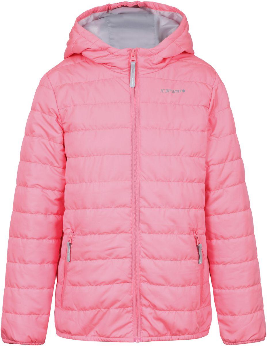 Куртка750018504IV_887Куртка для девочки Icepeak выполнена из качественного полиэстера. Модель с капюшоном и длинными рукавами застегивается на застежку-молнию. Изделие дополнено двумя врезными карманами на молниях.