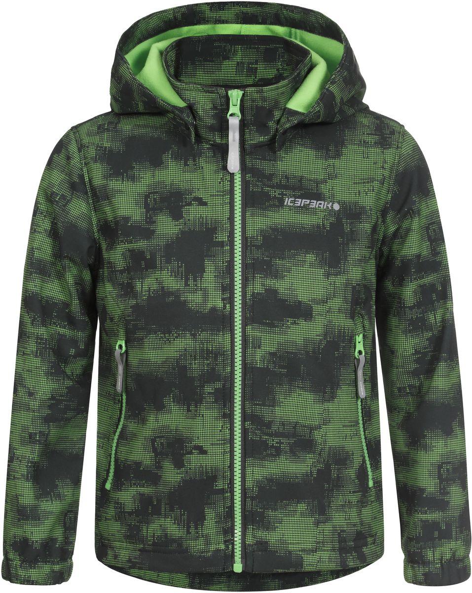 Куртка751816656IVT_312Куртка для мальчика Icepeak выполнена из качественного полиэстера. Модель со съемным капюшоном и длинными рукавами застегивается на молнию. Изделие дополнено двумя врезными карманами на молниях.