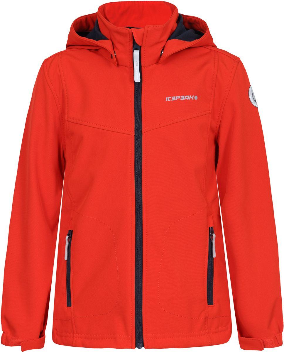 Куртка751809682IVT_640Куртка для мальчика Icepeak выполнена из качественного материала. Модель с длинными рукавами застегивается на застежку-молнию. Изделие дополнено съемным капюшоном и двумя врезными карманами на молниях.