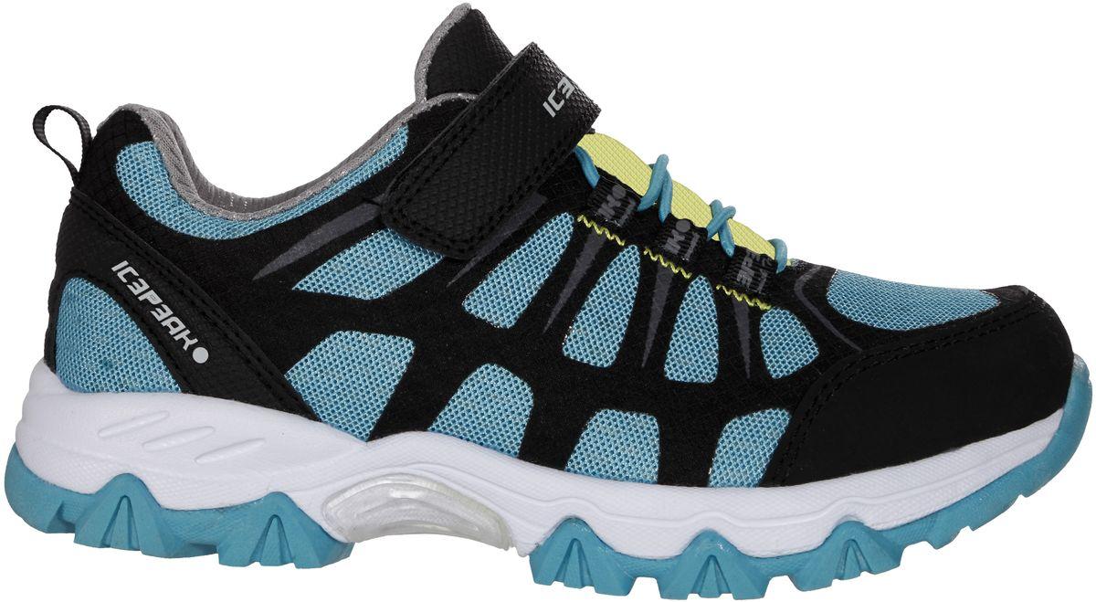 Кроссовки772204100IVКроссовки для мальчиков Icepeak - идеальный вариант для теплой погоды. Модель на шнурках и с ремешком на липучке в верхней части, изготовлена из комбинированной ткани (лайкра, полиуретан, текстильная сетка, резина).
