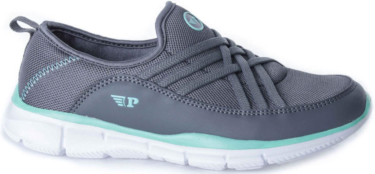 Кроссовки263-006T-17s-8/01-5Удобные женские кроссовки от Patrol прекрасно подойдут для активного отдыха и на каждый день. Верх модели выполнен из текстиля и искусственной кожи и оформлен декоративной прострочкой и логотипом бренда. Эластичные резинки надежно фиксируют обувь на ноге. Текстильный ярлычок, расположенный на заднике, облегчает обувание. Внутренняя поверхность и стелька исполнены из текстильного материала. Мягкая подошва из пенопропилена с рельефным рисунком обеспечивает отличное сцепление с любыми поверхностями. Такие кроссовки займут достойное место среди коллекции вашей обуви.