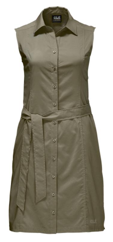 Платье1503991-1910Платье Sonora Dress выполнено из 100% полиэстера. Ткань мягкая, легкая, слегка эластичная, приятная на ощупь, она обладает защитой от ультрафиолета (UPF 30+), отлично отводит влагу от тела и моментально сохнет при намокании. Модель без рукавов застегивается на пуговицы, имеет отложной воротник, пояс в комплекте и секретный карман. Модель выполнена в однотонном дизайне. Такое платье идеально подходит для путешествий в жаркие страны и повседневной носки в летний сезон.