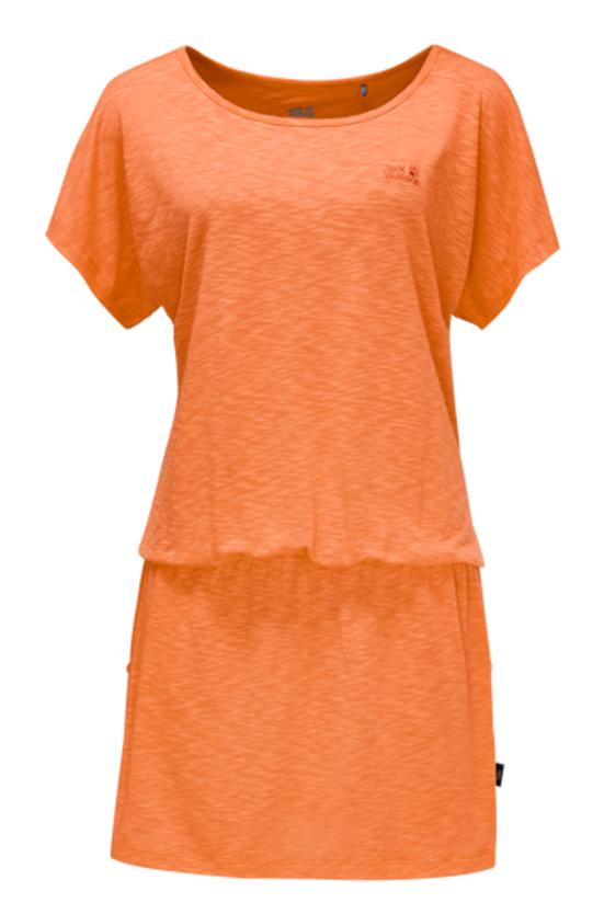 Платье1504051-1910Платье Travel Dress изготовлено из полиэстера с добавлением эластана. Ткань мягкая, легкая, приятная на ощупь и дышащая. Если вы вдруг попадете под дождь, ткань высохнет практически мгновенно, кроме того, специальная обработка позволяет уменьшить образование неприятных запахов. Модель имеет свободный крой, круглый вырез горловины и цельнокроеный рукав. На талии предусмотрена резинка, а сбоку расположены вшитые карманы. Модель выполнена в однотонном дизайне.