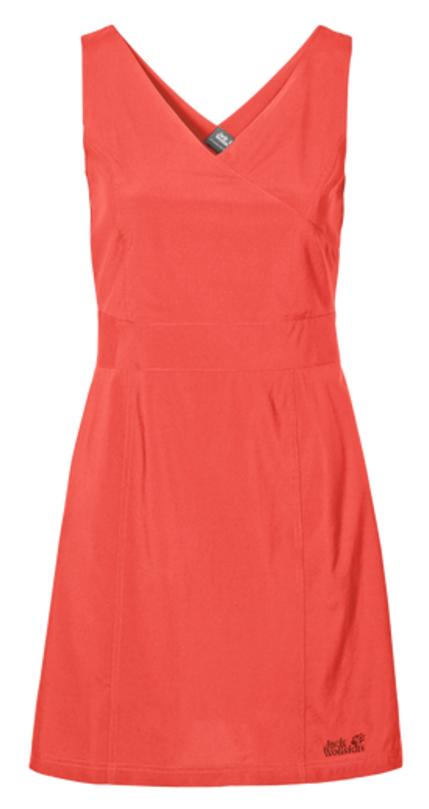 Платье1502892-1910Платье Wahia Dress выполнено из 100% полиэстера. Ткань легкая, дышащая, мягкая на ощупь и слегка эластичная, а также обладает защитой от ультрафиолета (UPF 30+). Модель без рукавов длины миди, имеет V-образный вырез и застегивается на молнию сбоку. Такое платье идеально подходит для путешествий в жаркие страны и повседневной носки в летний сезон.