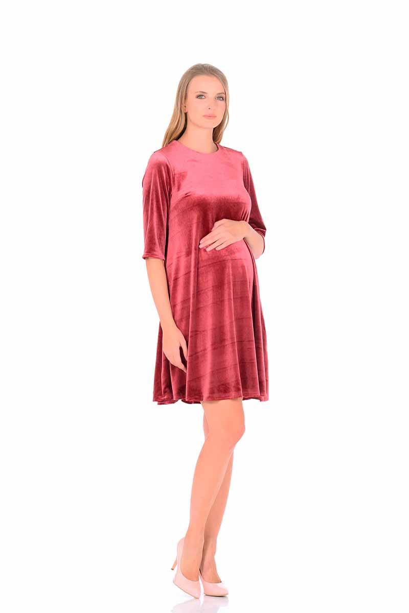 Платье2160.01Удобное бархатное платье миди с укороченным рукавом для беременных будет прекрасным вариантом для Вашей коллекции. Этот товар станет приятной покупкой или презентом родным. Платье великолепно подойдет под любой стиль одежды. Продукт сделан из качественных материалов приятного окраса. Дизайн тщательно проработан. Все части аккуратно выбраны и хорошо смотрятся друг с другом.