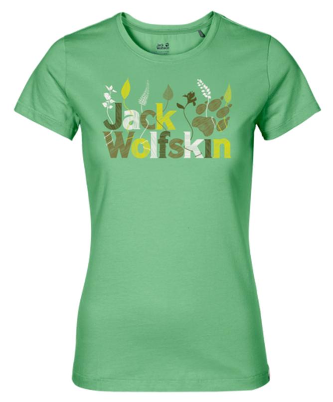 Футболка1804391-1588Футболка женская Jack Wolfskin Brand T W выполнена из полиэстера и органического хлопка. Благодаря такой смесовой ткани футболка прочная, но в тоже время мягкая и комфортная. Модель имеет круглый вырез горловины и стандартные короткие рукава. Футболка дополнена яркой надписью на груди с названием бренда.