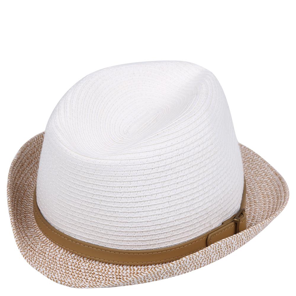 ШляпаGL46-4 WHITEСтильная шляпа от Fabretti для пляжного отдыха и прогулок в солнечные дни.