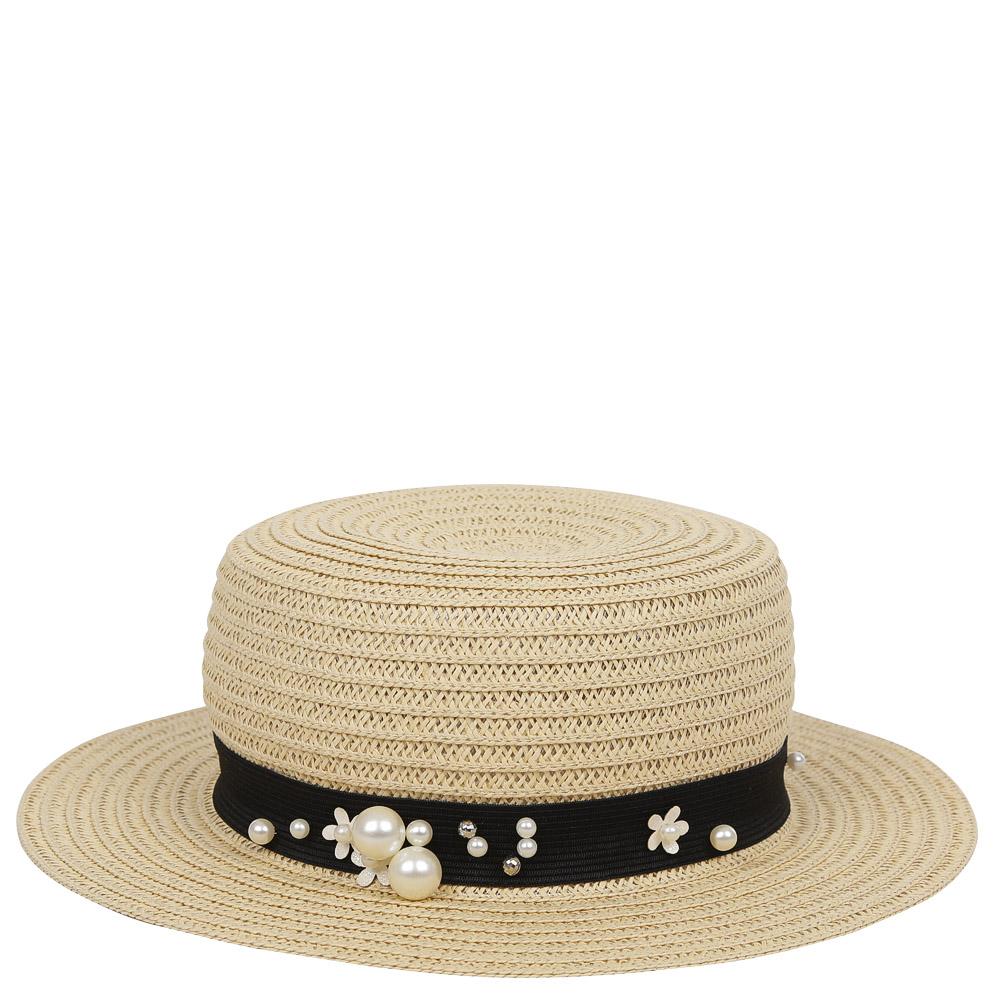 ШляпаGL45-3 BEIGEСтильная шляпа для пляжного отдыха и прогулок в солнечные дни.