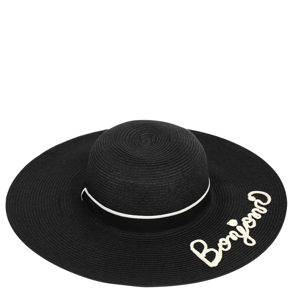 ШляпаGL44-2 BLACKСтильная шляпа от Fabretti для пляжного отдыха и прогулок в солнечные дни.
