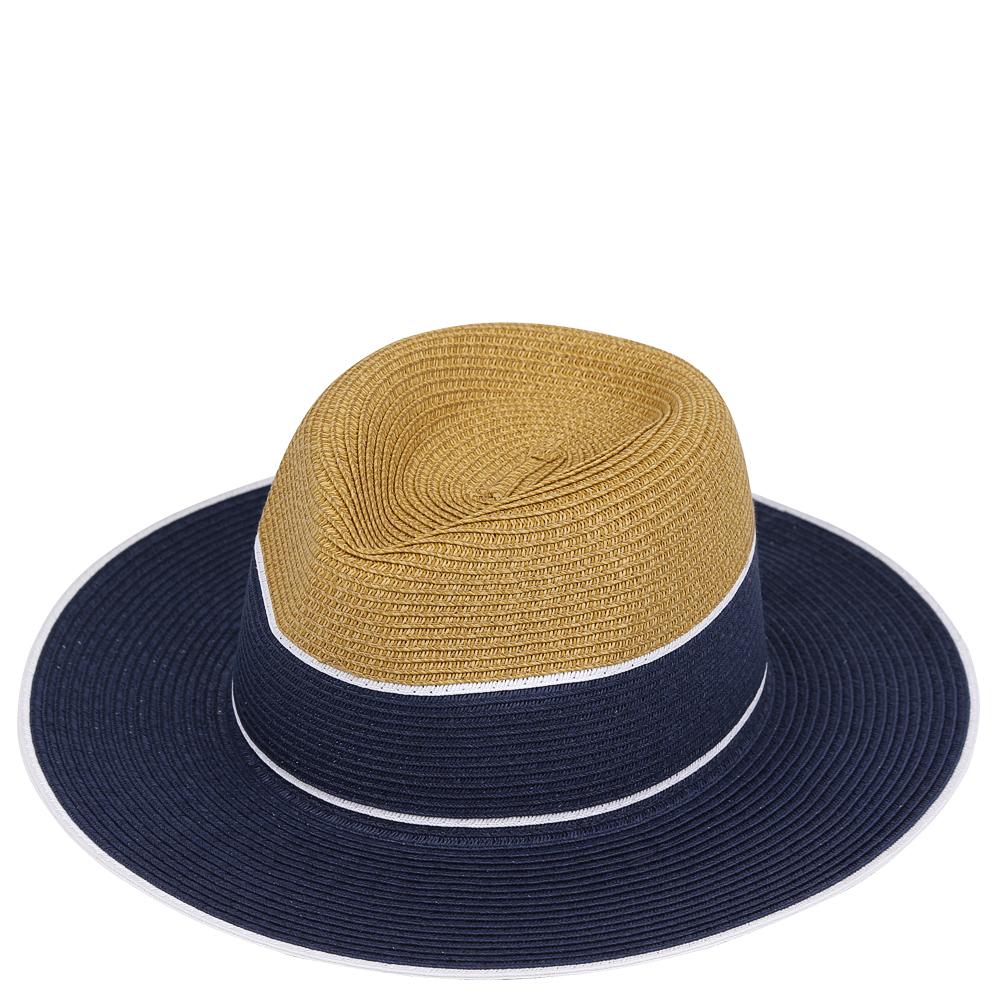 ШляпаG33-3/5 BEIGE/BLUEСтильная шляпа от Fabretti для пляжного отдыха и прогулок в солнечные дни.