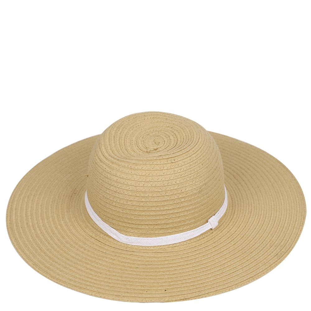 ШляпаG32-3/4 BEIGE/WHITEСтильная шляпа для пляжного отдыха и прогулок в солнечные дни.