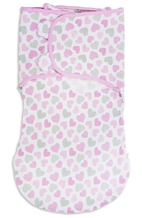 Конверт для новорожденного87430_китыSwaddleMe WrapSack является идеальным 2-в-1 конвертом - мешком для сна. Безопасная альтернатива одеялу, в нем можно запеленать руки или оставить их свободными, позволяет свободно двигать ножками. Простой и легкий в использовании WrapSack растет с ребенком.