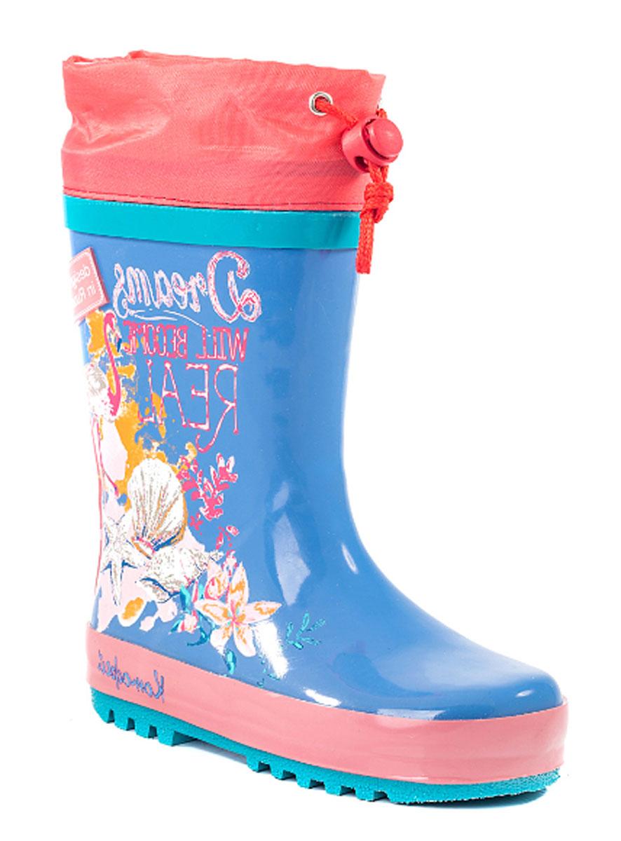 Резиновые сапоги366152-11Резиновые сапоги от Котофей - идеальная обувь в холодную дождливую погоду для вашей девочки. Сапоги выполнены из качественной резины. Боковая сторона голенища оформлена оригинальным принтом. Подкладка и стелька из текстиля обеспечат комфорт. Текстильный верх голенища регулируется в объеме за счет шнурка со стоппером. Подошва дополнена рифлением.