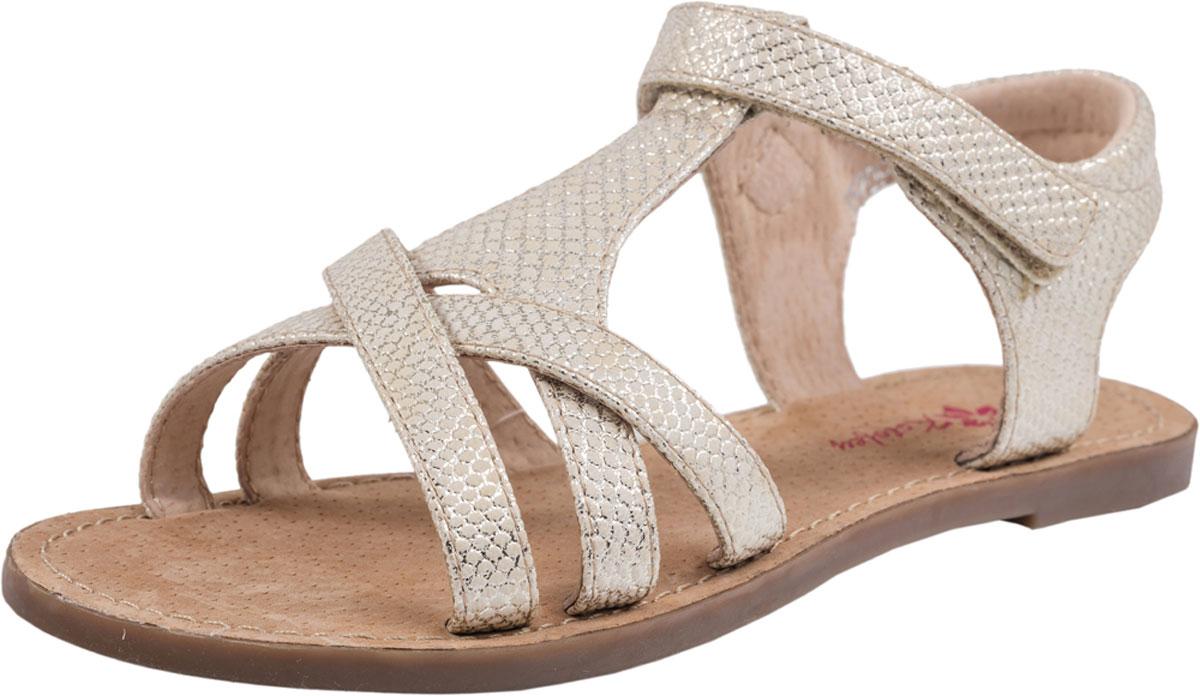 Сандалии523049-21Модные сандалии для девочки от Котофей выполнены из искусственной кожи с декоративным тиснением. Внутренняя поверхность и стелька из натуральной кожи обеспечат комфорт при движении. Ремешок с застежкой-липучкой надежно зафиксирует модель на ноге. Подошва дополнена рифлением.