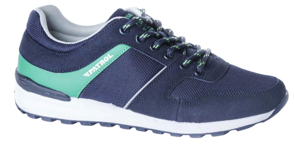 Кроссовки763-014T-17s-8/02-16Стильные кроссовки от Patrol - отличный выбор для вашего мальчика на каждый день. Верх модели выполнен из искусственного спилка и сетчатого текстиля. Кроссовки оформлены названием бренда. Шнуровка на подъеме обеспечивает надежную фиксацию обуви на ноге. Подкладка и стелька из текстильного материала создают комфорт при носке. Подошва выполнена из легкого ТЭП-материала. Рифление на подошве обеспечивает отличное сцепление с любой поверхностью. Модные и комфортные кроссовки - необходимая вещь в гардеробе каждого ребенка.