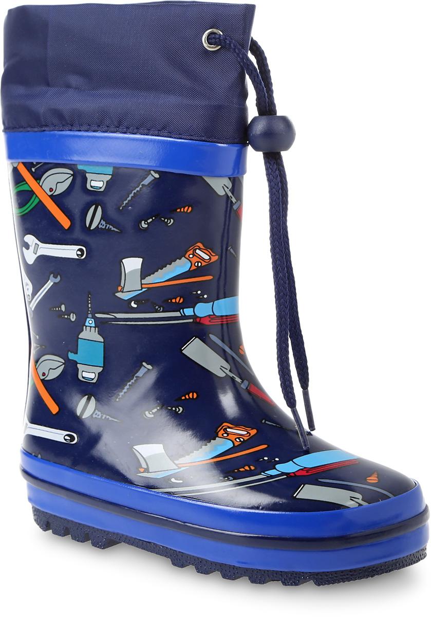 Резиновые сапогиQZX234-1Резиновые сапоги Счастливый ребенок - идеальная обувь в холодную дождливую погоду для вашего мальчика. Сапоги выполнены из качественной резины. Голенище оформлено оригинальным принтом. Подкладка и стелька из байки обеспечат комфорт. Текстильный верх голенища регулируется в объеме за счет шнурка со стоппером. Подошва дополнена рифлением.