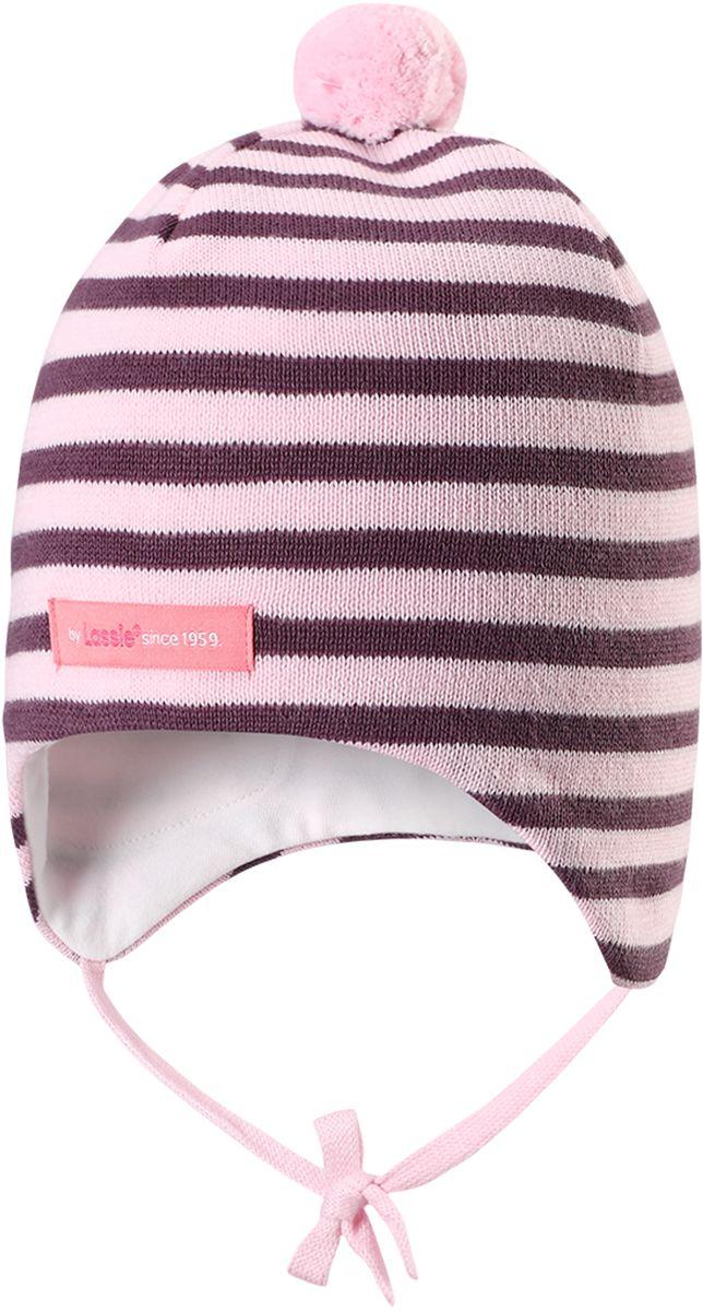Шапка детская7187152190Симпатичная шапка-бини для малышей с помпоном. Шапка сделана из мягкого хлопкового трикотажа на полной подкладке из гладкого дышащего хлопкового джерси. Она снабжена ветронепроницаемыми вставками, мягкими завязками и светоотражающей эмблемой на заднем шве.