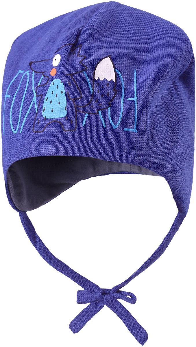 Шапка детская7187100110Очаровательная, мягкая и теплая шапка-бини для малышей. Весенний ветер еще может быть на удивление холодным эта шапка из хлопкового трикотажа не даст ушкам замерзнуть, ведь в ней есть ветронепроницаемые вставки в области ушей. Есть светоотражающая эмблема Lassie.