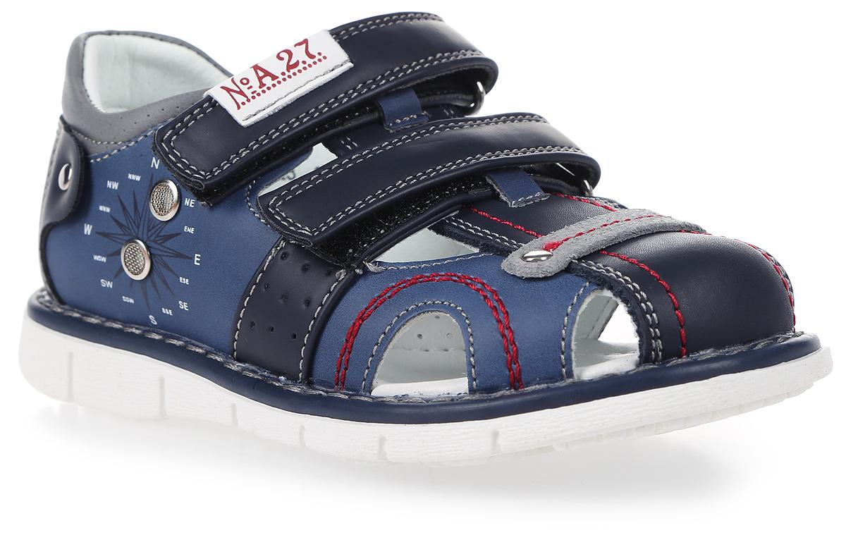 СандалииR603221023Стильные сандалии Сказка придутся по душе вашему моднику! Модель выполнена из искусственной и натуральной кожи. Обувь оформлена оригинальным принтом. Мягкая стелька с поверхностью из натуральной кожи. Удобные сандалии - необходимая вещь в гардеробе каждого ребенка.