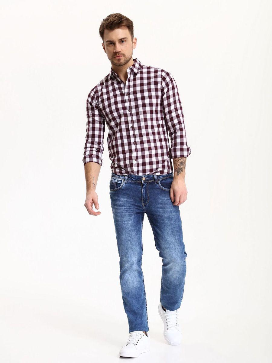 РубашкаSKL2275CEРубашка мужская Top Secret выполнена из 100% хлопка. Модель с отложным воротником и длинными рукавами застегивается на пуговицы.