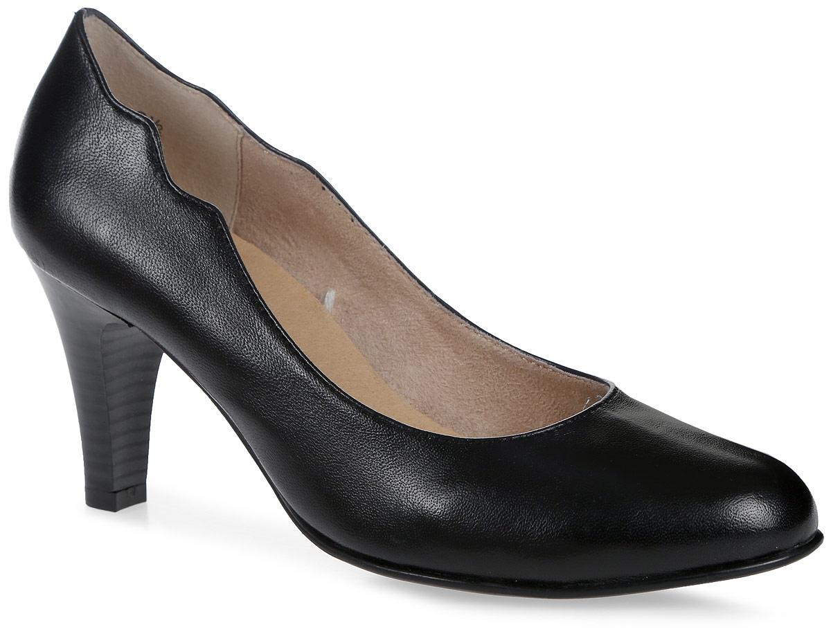 Туфли9-9-22406-28-022/208Стильные женские туфли, выполненные из натуральной кожи, отлично дополнят ваш образ. Внутренняя поверхность и стелька из текстиля и натуральной кожи обеспечат комфорт ногам. Модель на устойчивом каблуке. Подошва оснащена рифлением.