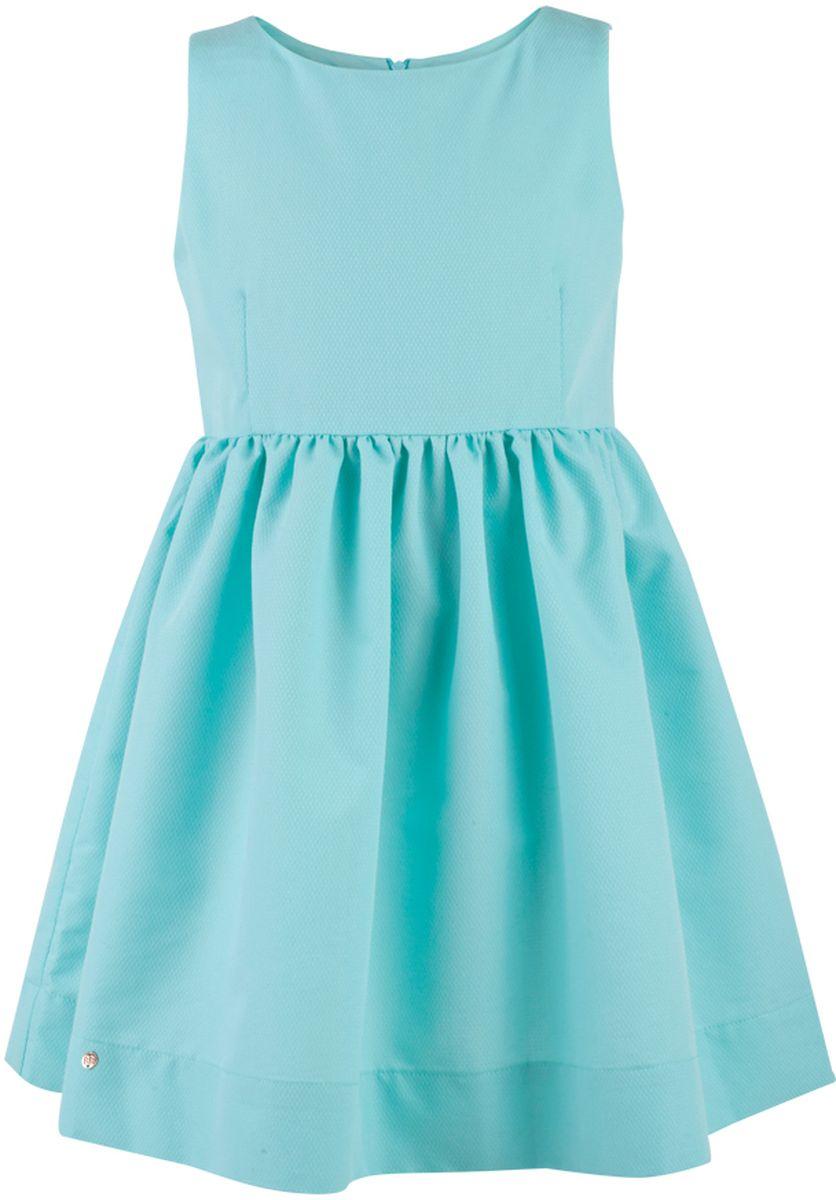 Платье117BBGC25022600Прекрасный летний вариант - яркое текстильное платье на тонкой хлопковой подкладке. Модный силуэт, комфортная форма делают платье для девочки отличным решением для каждого дня лета. Если вы хотите приобрести одновременно и красивую, и практичную, и удобную вещь, вам стоит купить детское платье от Button Blue. Низкая цена не окажет влияния на бюджет семьи, позволив создать интересный базовый гардероб для долгожданных каникул!