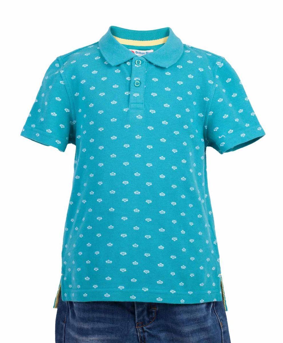 Поло117BBBC14012813Бирюзовая футболка-поло - изделие из разряда must have! Это не только базовая вещь в гардеробе ребенка, но и залог хорошего летнего настроения! Если вы решили купить недорогую футболку-поло для мальчика, выберете стильное бирюзовое поло с мелким рисунком от Button Blue, и ваш ребенок будет доволен! Низкая цена не окажет влияния на бюджет семьи, позволив создать интересный базовый гардероб для долгожданных каникул!