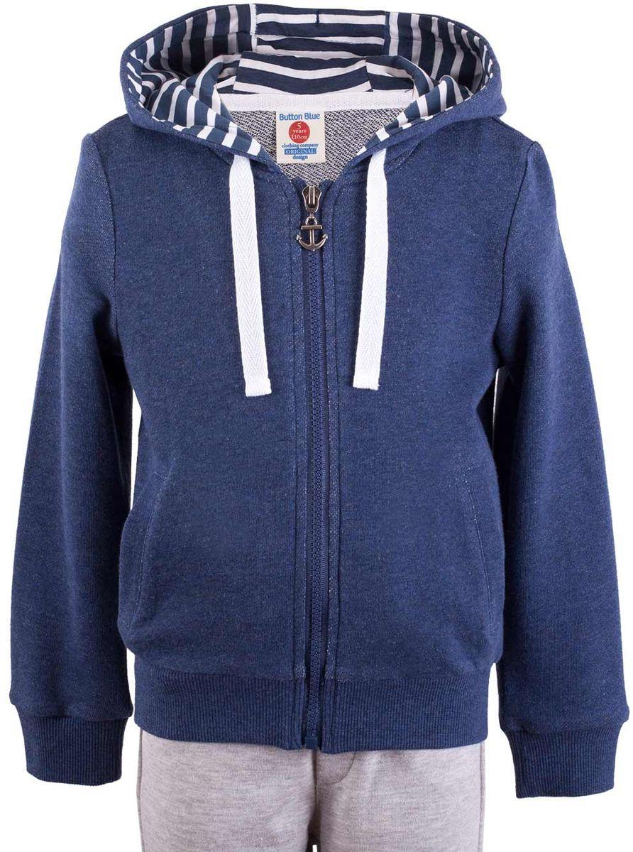 Толстовка117BBUC16022700Детская толстовка - хит прогулочного и домашнего гардероба. Модная, удобная, практичная, толстовка - отличная вещь на каждый день. Толстовка от Button Blue гарантирует прекрасный внешний вид, комфорт и свободу движений.