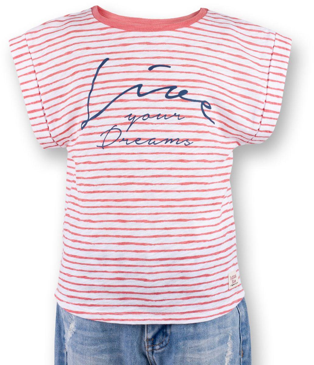 Футболка117BBGC12022205Полосатая футболка - не только базовая вещь в гардеробе ребенка, но и залог хорошего летнего настроения! Если вы решили купить футболку для девочки, выберете модель футболки в полоску с оригинальным принтом, и ваш ребенок будет доволен! Низкая цена не окажет влияния на бюджет семьи, позволив создать яркий базовый гардероб для долгожданных каникул!
